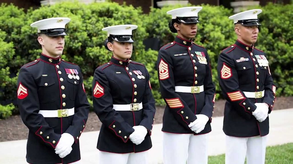 united states marine core uniforms with wool